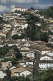 Vista de Ouro Preto, el Brasil imagenes de archivo