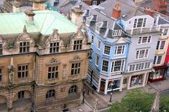 Vista de Oxford de arriba Fotografía de archivo
