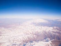 Vista de pájaro de las montañas de Himalaya Imagen de archivo libre de regalías