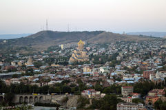Vista de pájaro de Tbilisi Fotografía de archivo
