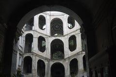 Vista de Palazzo Sanfelice imágenes de archivo libres de regalías