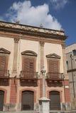 Vista de Palazzo Valguarnera-Gangi fotografía de archivo libre de regalías