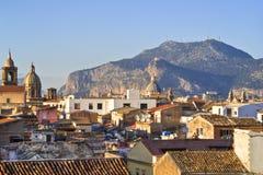 Vista de Palermo con los tejados Imagen de archivo libre de regalías
