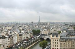 Vista de París Imagenes de archivo
