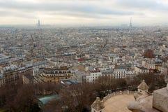 Vista de París de la basílica de Sacre Coeur Imágenes de archivo libres de regalías