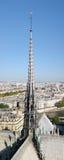 Vista de París de Notre Dame Imagenes de archivo