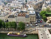 Vista de París del top Fotos de archivo libres de regalías
