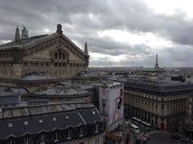 Vista de París en un día nublado Imagen de archivo