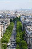 Vista de París (Francia) Fotos de archivo