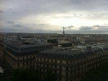 Vista de París y de la torre Eiffel Imagen de archivo