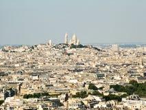 Vista de París y de Montmartre Imagen de archivo