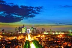 Vista de Paris fotografia de stock