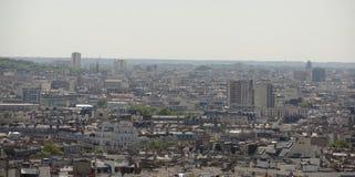 Vista de Paris da parte superior do monte de Montmartre Imagens de Stock Royalty Free