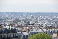 Vista de Paris da parte superior do monte de Montmartre Imagens de Stock