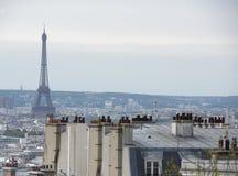 Vista de Paris da parte superior do monte de Montmartre Fotografia de Stock
