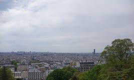 Vista de Paris da parte superior do monte de Montmartre Fotos de Stock