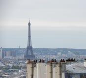 Vista de Paris da parte superior do monte de Montmartre Fotografia de Stock Royalty Free