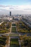 Vista de Paris da torre Eiffel Fotografia de Stock