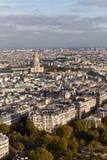 Vista de Paris da torre Eiffel Imagens de Stock Royalty Free