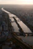 Vista de Paris da torre Eiffel Imagens de Stock
