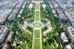 Vista de Paris da torre Eiffel, France Fotografia de Stock Royalty Free