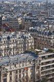 Vista de Paris de acima fotografia de stock