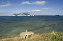 Vista de Parque de Centenario a Gibraltar Imagem de Stock