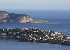 Vista de Parque a Dinamarca Cidade em Niteroi Imagem de Stock Royalty Free
