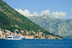 Vista de Perast, Montenegro Fotografia de Stock Royalty Free