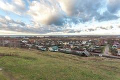Vista de Pereslavl y de Pleshcheevo Imágenes de archivo libres de regalías