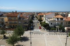 Vista de Perpignan, Francia imagen de archivo