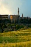 Vista de Pienze, Italy. imagem de stock