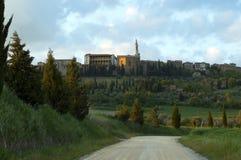 Vista de Pienze, Italy. fotografia de stock royalty free
