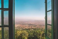 Vista de Pindaya, Myanmar Birmania Fotografía de archivo