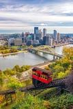 Vista de Pittsburgh céntrica Imagen de archivo libre de regalías
