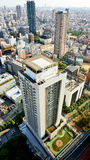 Vista de pájaro de Osaka céntrica Foto de archivo