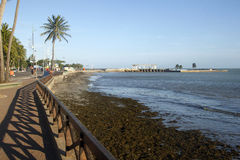 Vista de Ponta Verde Foto de archivo