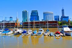 Vista de Porto Madero, Buenos Aires foto de stock royalty free