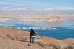 Vista de Powell del lago fotos de archivo
