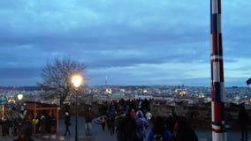 Vista de Praga do ani do  de HradÄ Imagens de Stock