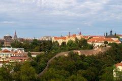 Vista de Praga tomada do castelo do vysehrad Imagens de Stock
