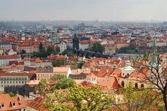 Vista de Praga vieja Fotografía de archivo
