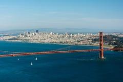 Vista de puente Golden Gate de Hawk Hill, Fotografía de archivo