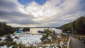 Vista de Puerto Toro, Patagonia o Chile fotografia de stock