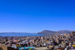 Vista de Puno, Perú fotografía de archivo