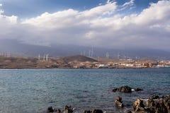 Vista de Punta de Abona, Tenerife, Espanha imagem de stock royalty free