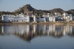 Vista de Pushkar Fotografía de archivo