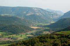 Vista de Pyrenees españoles imagen de archivo