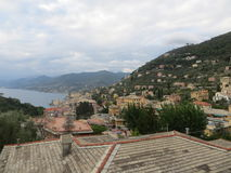 Vista de Rapallo Imagen de archivo libre de regalías