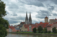 Vista de Regensburg Fotografía de archivo